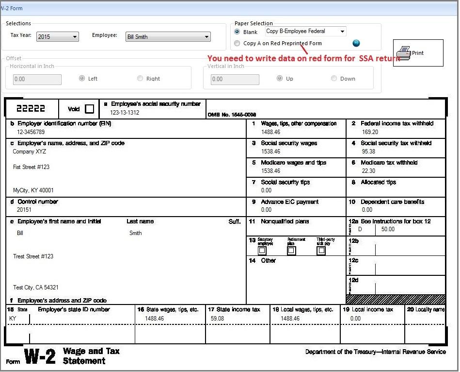 Tax Return Tax Return W2 Form
